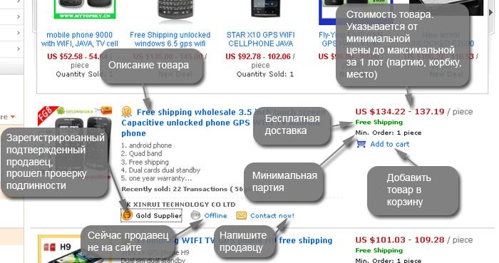 АЛИЭКСПРЕСС ALIEXPRESS COM на русском языке страница поиска