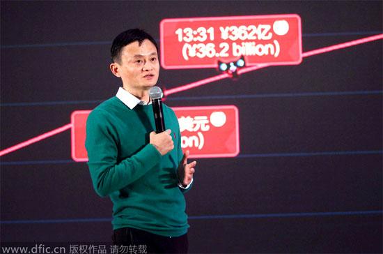 11-11-2014 В первые две минуты после начала распродаж валовый объем превысил 1 миллиард юаней