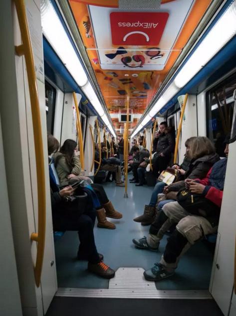 aliexpress в испанском метро