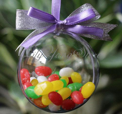 Новогодний шар на елку с конфетами и сюрпризом своими руками