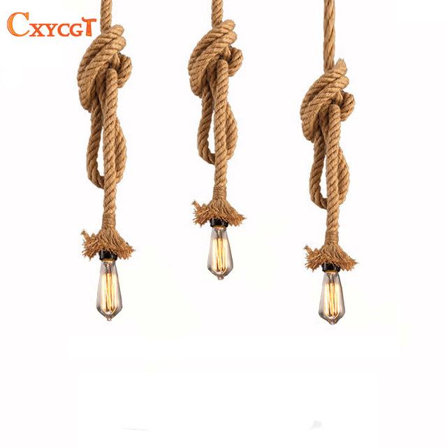 Винтажная ретро лампа веревки