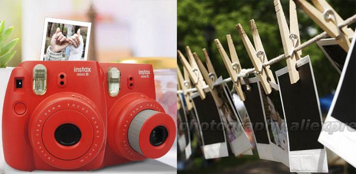 Дешево Фотоаппарат для моментальной печати с фотобумагой купить Fuji-Fujifilm-Instax-Mini-8