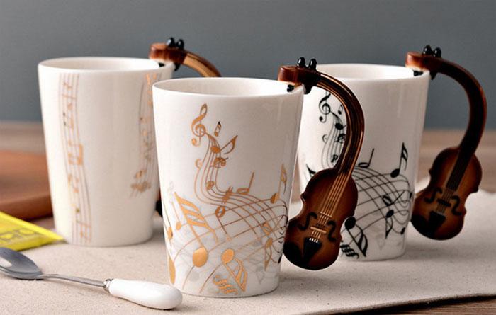 Керамическая кружка чашка музыкальная купить на АлиЭкспресс