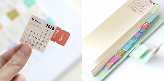 Стикеры, липкий календарь и закладки