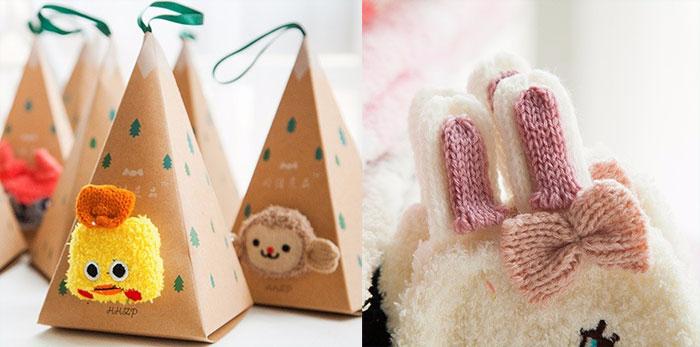 Женские милые носки в подарочной упаковке