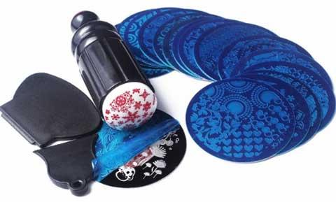 Штампы, пластина дизайн ногтей трафарет