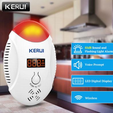 Современный детекторуглекислого газа, бренд KERUI Пожарная безопасность купить на aliexpress
