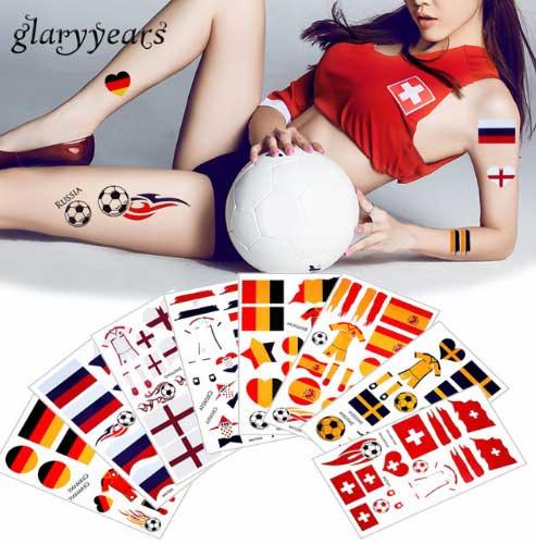 Переводные тату наклейки для болельщиков футбола купить на АлиЭкспресс