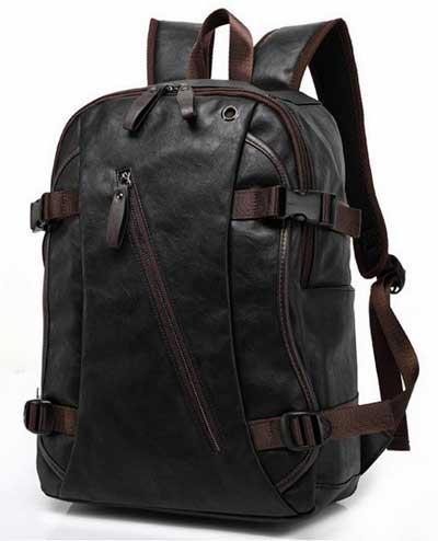 Кожаный рюкзак для парней и мужчин
