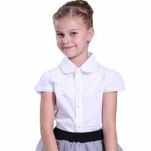 Школьная белая блузка их хлопка школьная форма