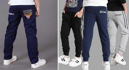 Брюки для мальчиков и спортивные штаны для школы