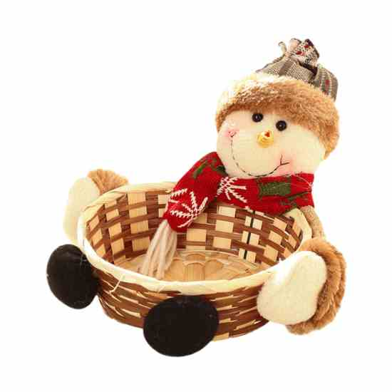 Корзинка для конфет новогодний декор купить на Алиэкспресс