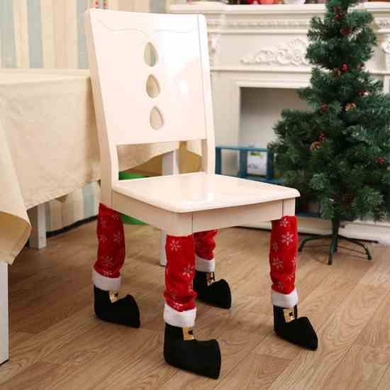 Сапожки для стула новогодний декор купить на Aliexpress