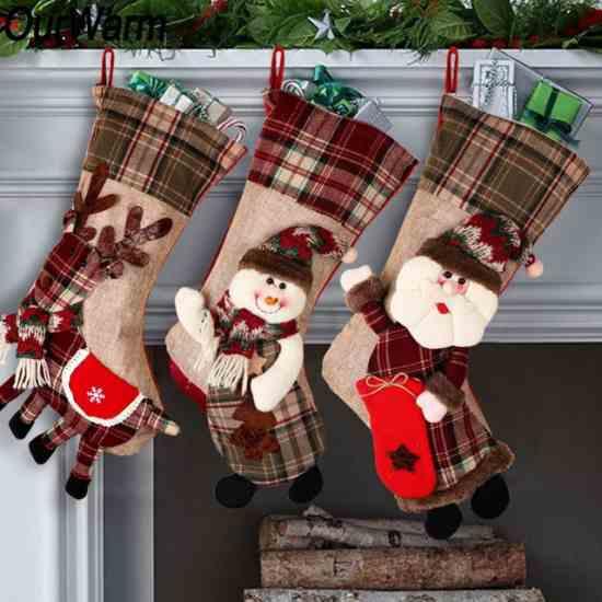 Рождественский чулок носок для подарков