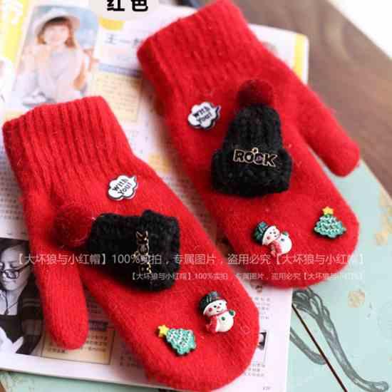 Женские рукавички подарок для женщины, девушки на Новый год