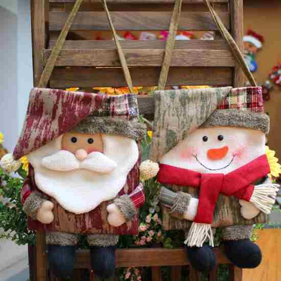 Подарочная сумочка рождественский и новогодний декор купить