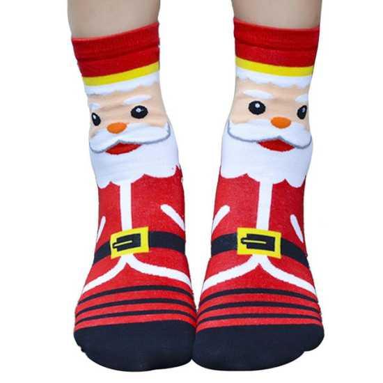 Носочки с изображением Санты или Дед Мороза