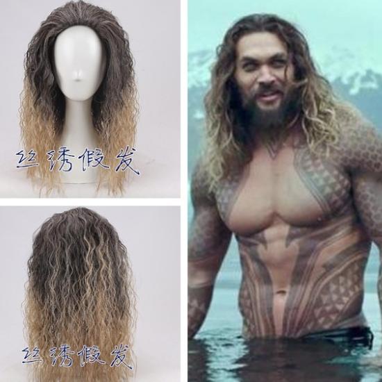 Парик, волосы как у Аквамена купить на Алиэкспресс