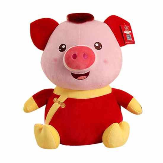 Плюшевая свинья удачи подарок на новый год