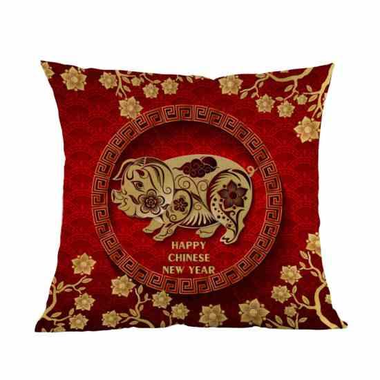 Наволочка с изображением свиньи подарок на Китайский новый год