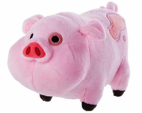 Толстая довольная свинья подарок мягкая игрушка