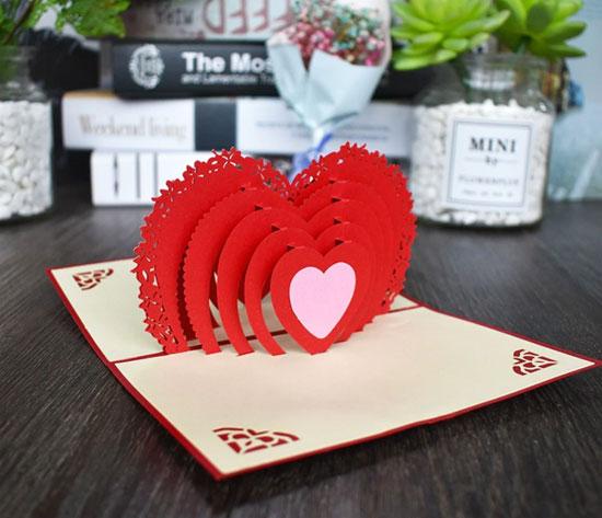 3D открытка ко Дню святого Валентина Сердечки и подарки для влюбленных на Aliexpress.