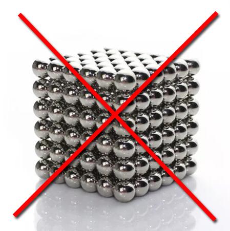 Смертельные магнитные шарики запрещены на Алиэкспресс