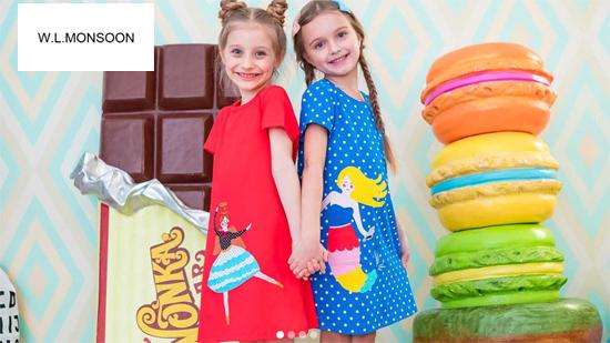 WLMONSOON топ бренд Алиэкспресс одежда для девочек