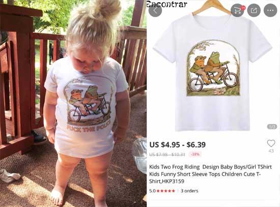 Неприличная надпись на футболке с Алиэкспресс