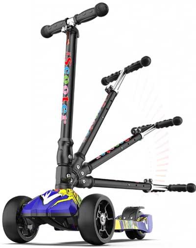 Детский скутер, гироскутер от 2 до 16 лет, прочный, регулируемый по высоте, складной, с подсветкой, для мальчиков и девочек купить на Алиэкспресс
